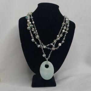 Lia Sophia Multi chain collar necklace